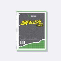 Kroužkový blok Bobo Speciál A4, 50 listů, čtvereček