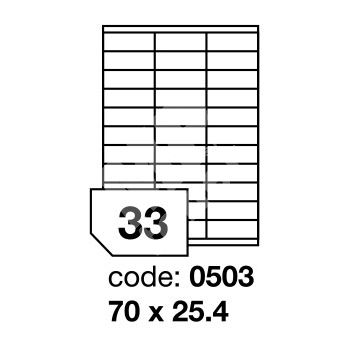 Samolepící etikety Rayfilm Office 70x25,4 mm 100 archů R0100.0503A 1