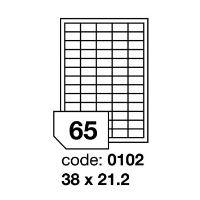 Samolepící etikety Rayfilm Office 38x21,2 mm 100 archů R0100.0102A 1