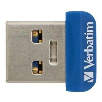 Verbatim Nano Store n Stay 64GB, USB flash disk 3.0, 98711, modrá 3