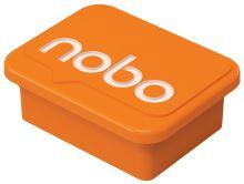 Magnety, oranžová, 4 ks, NOBO 5