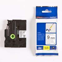 Páska do štítkovače Brother TZe-FX221, 9mm, černý tisk/bílý podklad, flexi, originál