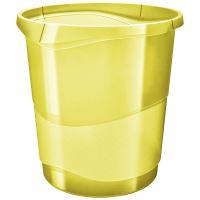 Odpadkový koš Esselte Colour'Ice, průhledná žlutá, 14 l
