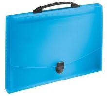 Aktovka s držadlem a 12 přihrádkami, Vivida modrá, A4, plast, Esselte 2