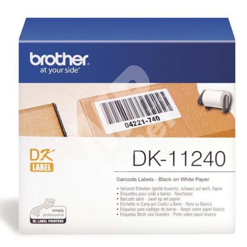 Štítky papírové Brother 102mm x 51mm, bílá, 600 ks, DK11240 1