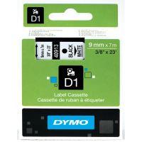 Páska Dymo D1 9 mm x 7m, černý tisk/bílý podklad 40913, S0720680