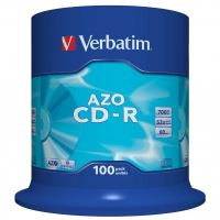 Verbatim CD-R, DataLife PLUS, 700 MB, Crystal, spindl, 43430, 52x, 100-pack