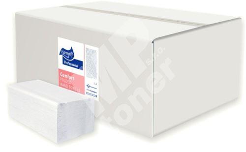 Papírové ručníky skládané Harmony Professional V 3000ks, 23x24cm, bílé