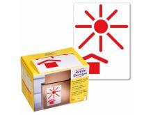 Výstražné etikety Avery Zweckform 7253 ''Chraňte před teplem - Keep Away From Heat''