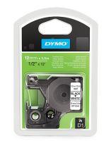 Páska Dymo D1 12 mm černo/bílá, flexibilní, nylonová, 16957, S0718040