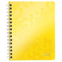 Blok na psaní Leitz WOW A5, linkovaný, drátěná vazba s PP deskami, žlutý
