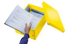 Krabice Click & Store, žlutá, lesklá, A4, LEITZ 11