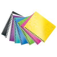Blok na psaní Leitz WOW A5, linkovaný, drátěná vazba s PP deskami, purpurový 4