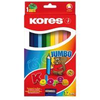 Pastelky Kores Kolores Jumbo 93512 Trojhranné 12 barev