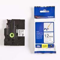 Páska do štítkovače Brother TZe-FX231, 12mm, černý tisk/bílý podklad, flexi, originál