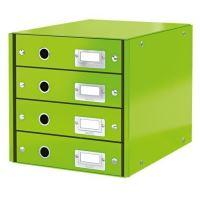 Archivační box zásuvkový Leitz Click & Store WOW, 4 zásuvky, zelený