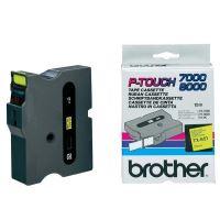 Páska do štítkovače Brother TX-651, 24mm, černý tisk/žlutý podklad, originál
