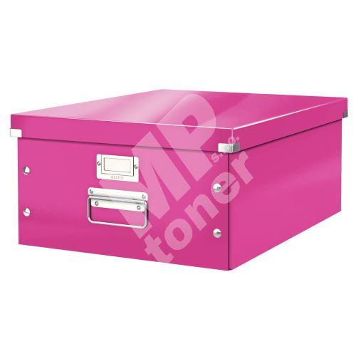 Archivační krabice Leitz Click-N-Store L (A3), růžová 1