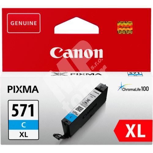 Cartridge Canon CLI-571C XL, 0332C001, cyan, originál 3