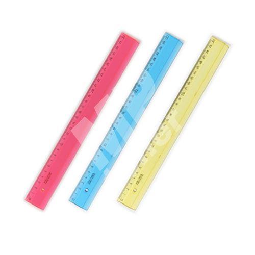 Pravítko 30 cm barevné 5