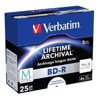 Verbatim 25GB BD-R M-DISC, Single layer/Injekt printable, jewel, 43823, 4x, 5-pack 1