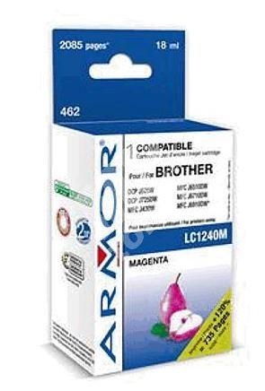 Kompatibilní cartridge Brother LC1240/1280Y UNI Armor, červená 1