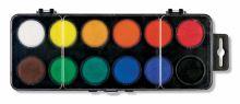 Vodové barvy 22,5mm 12 barev, obdélníkové