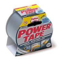 Lepící páska 50 mm x 25m Pattex Power tape, textilní stříbrná