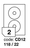 Samolepící etikety Rayfilm Office průměr 118/22 mm 300 archů R0103.CD12D