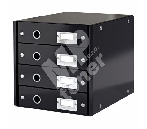 Archivační box zásuvkový Leitz Click-N-Store, 4 zásuvky, černý 1