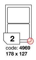 Samolepící etikety Rayfilm Office 178x127 mm 300 archů, inkjet, R0105.4969D