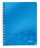 Blok Leitz WOW A5, čtverečkovaný, modrý