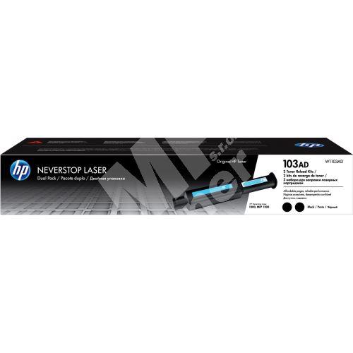 Toner HP W1103AD, black,  2-pack, 103AD, originál 1