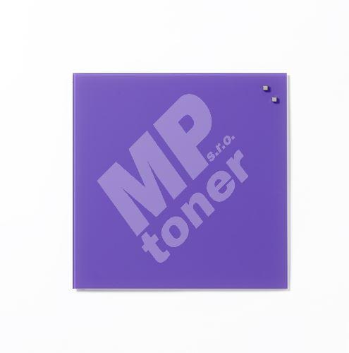 Skleněná magnetická tabule Naga 45 x 45 cm, fialová 1