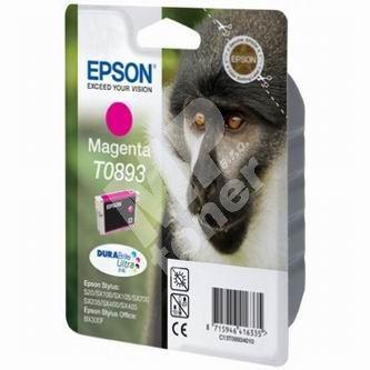 Inkoustová cartridge Epson C13T08934011, Stylus S20/SX100/SX200/SX400, červená, originál