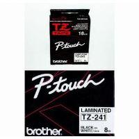 Páska do štítkovače Brother TZe-241 18mm černý tisk/bílý podklad