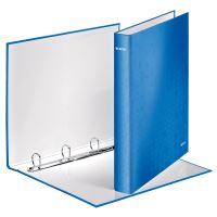 Kroužkový pořadač Wow, modrá, 4 kroužky, 40 mm, A4, karton, LEITZ 2