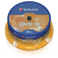 Verbatim DVD-R, DataLife PLUS, 4,7 GB, Scratch Resistant, cake box, 43522, 25-pack 1