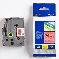 Páska do štítkovače Brother TZe-451 24mm, černý tisk/červený podklad