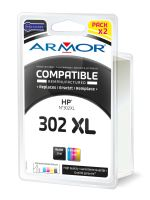 Kompatibilní cartridge HP F6U68AE, F6U67AE, pack, black+color, No. 302XL, Armor
