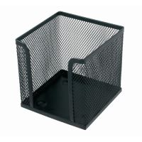 Krabička na papírovou kostku, drátěná, černá 9170