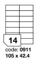 Samolepící etikety Rayfilm Office 105x42,4 mm 300 archů, inkjet, R0105.0911D