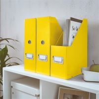 Stojan na časopisy Click & Store, žlutá, lesklý, 95 mm, PP/karton, LEITZ 3
