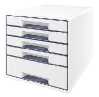 Zásuvkový box Leitz WOW, 5 zásuvek, šedý