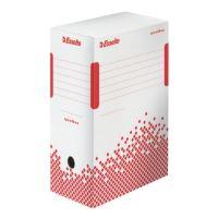 Archivační krabice Esselte Speedbox, 150 mm, bílá/ červená