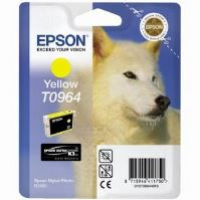 Inkoustová cartridge Epson C13T09644010, Stylus Photo R2880, žlutá, originál
