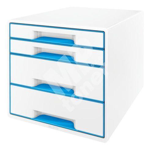 Zásuvkový box Leitz WOW, 4 zásuvky, světle modrý 1