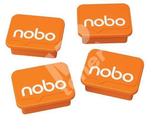 Magnety, oranžová, 4 ks, NOBO 1