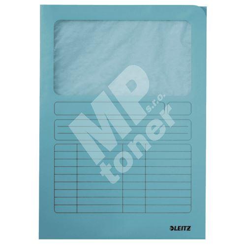 Odkládací desky Leitz s okénkem, světle modré 1