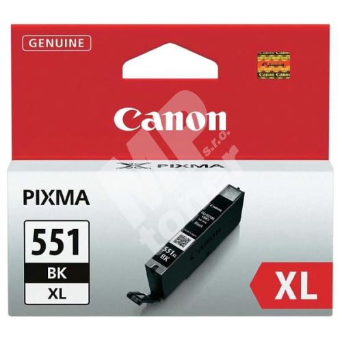 Cartridge Canon CLI-551Bk XL, black, 6443B001, originál 1